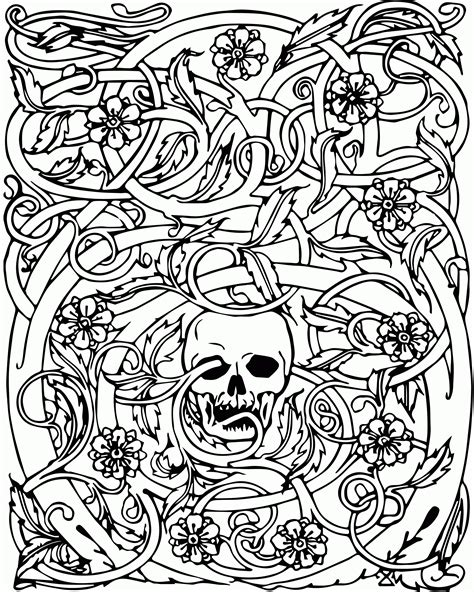 Light blues and greens are most used. Cool Skull Design Coloring Pages - Coloring Home
