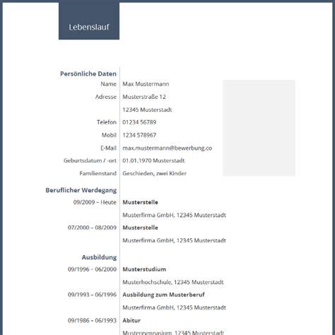 Lebenslauf Formular by Vorlage Tabellarischer Lebenslauf Mit Blauen Farbakzenten