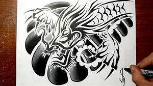 Designing a Tribal Chinese Dragon - Chest Tattoo Design ...