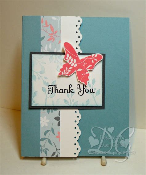 Simple Thank You Card Video   Dawn's Stamping Thoughts