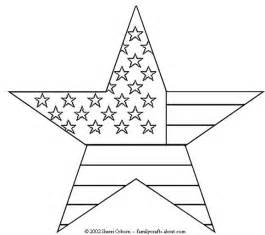 Flag and Stars Coloring Pages