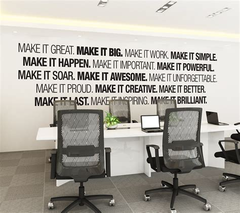 bureau decoration office wall moonwallstickers com