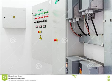 Electricity Fuse Box by Electricity Distribution Place Fuse Box Stock Image