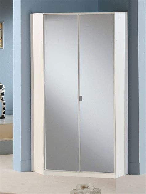 armoire chambre avec miroir armoire d angle avec miroir gamma blanc 139