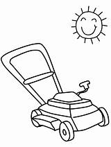 Coloring Pages Summer Lawn Mower Lawnmower Clip Lips Printable Drawing Easy Cliparts Tools Clipart Yard Coloringpagebook Library Advertisement sketch template