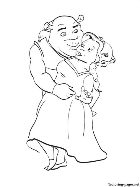shrek  fiona printable pages  coloring coloring pages