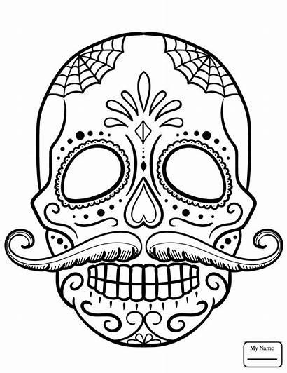 Skull Sugar Coloring Pages Simple Getcolorings Printable