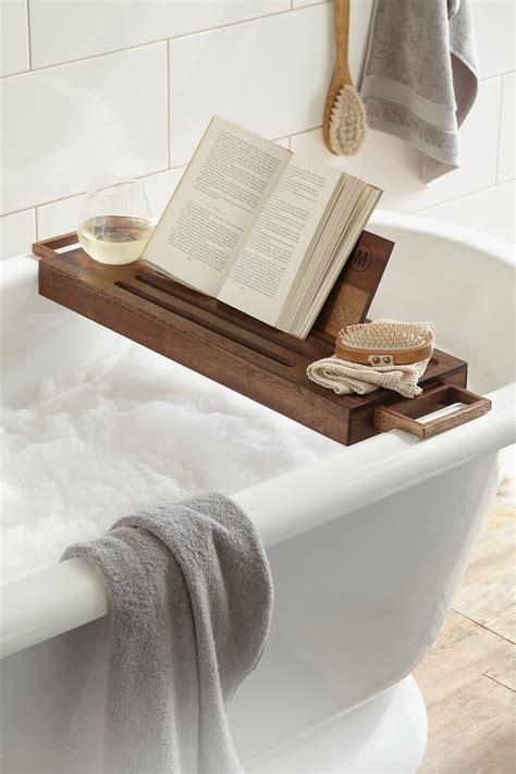 diy bathtub caddy with reading rack 25 best ideas about bath caddy on bath shelf