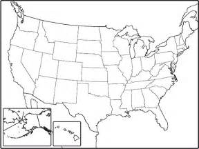 Blank Outline Map United States