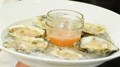 mignonette cuisine oysters on the half shell with muscadine and apple