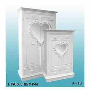 Armoire Bois Blanc : vente d 39 armoire coeur en bois blanc ~ Teatrodelosmanantiales.com Idées de Décoration