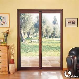 Porte fenetre coulissante a 2 vantaux a galandage for Porte fenetre coulissante galandage