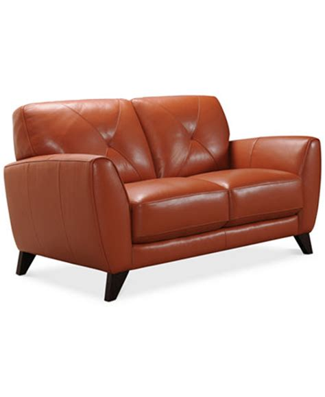 Macy S Loveseat by Myia 62 Quot Leather Loveseat Created For Macy S Furniture