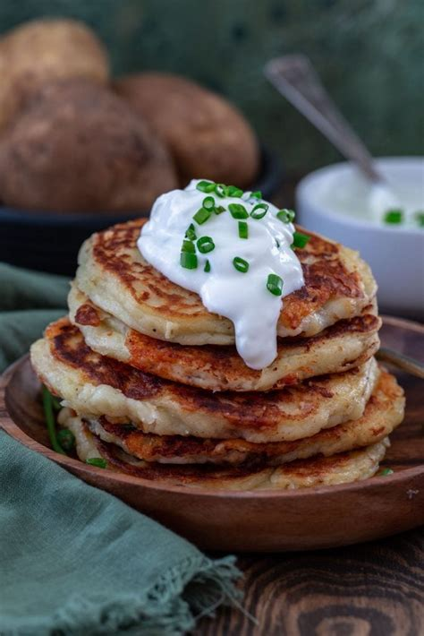 Boxty is a traditional irish dish made of potatoes. Cheddar Boxty (Irish Potato Pancakes)   Best Easter Brunch Recipes   POPSUGAR Food Photo 32