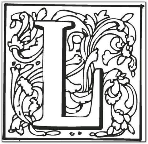 printable fancy letters l free printable fancy block alphabet coloring pages