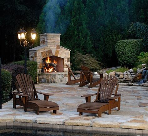 outdoor stone fireplaces  love home design lover