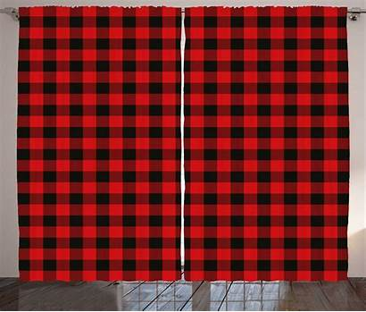 Plaid Pattern Curtains Checkered Drapes Square Quilt