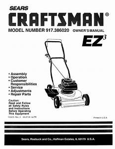 Ba 9962  Lawn Mower Diagram And Parts List For Craftsman