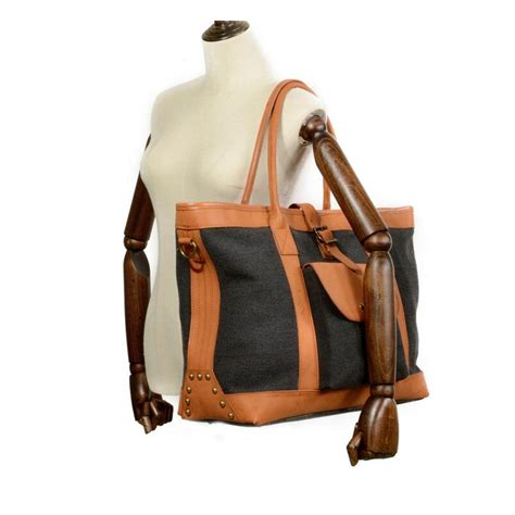 Womens bags sale handbag canvas and leather tote canvas ...