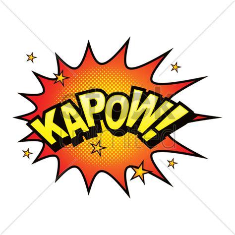 Kapow Comic Speech Bubble Vector Image