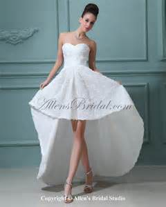 asymmetrical bridesmaid dress allens bridal satin sweetheart asymmetrical a line wedding dress with flowers