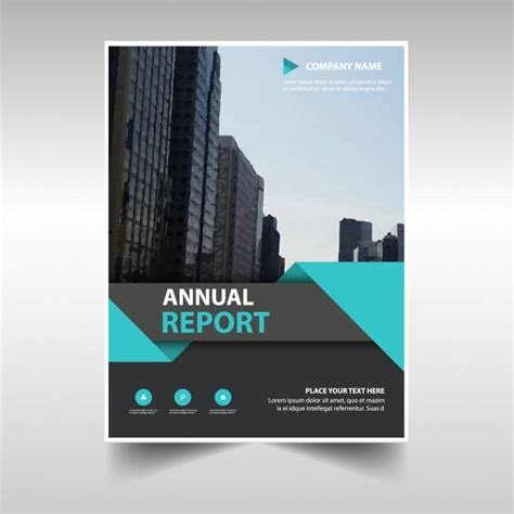 free annual report commercial annual report template vector free download
