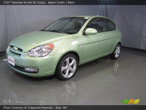 2007 Hyundai Accent Se by Apple Green 2007 Hyundai Accent Se Coupe Black