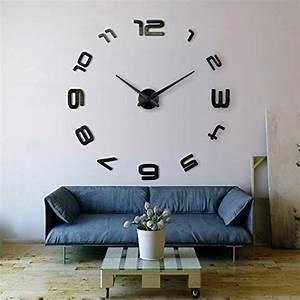 Riesen Wanduhr : xxl3d grande horloge murale xxl 130cm miroir geante ~ Pilothousefishingboats.com Haus und Dekorationen
