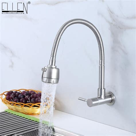 Mounted Faucet Kitchen by Wall Mounted Single Cold Kitchen Faucet Kitchen Sink Tap