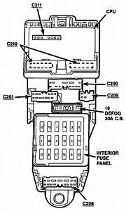 1989 Ford Probe Fuse Panel Diagram
