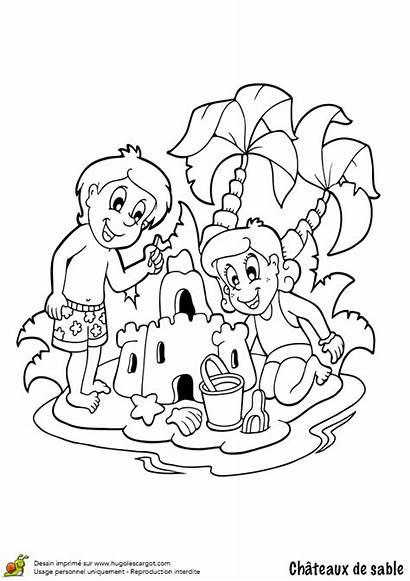 Sable Coloriage Chateau Enfants Deux Colorier Joli