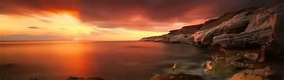 Panoramic Wallpapers Dual Monitor 4k Sunset Wallpaperflare