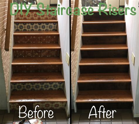 diy wood stained staircase risers dave eddy