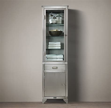 laboratory stainless steel tall bath cabinet