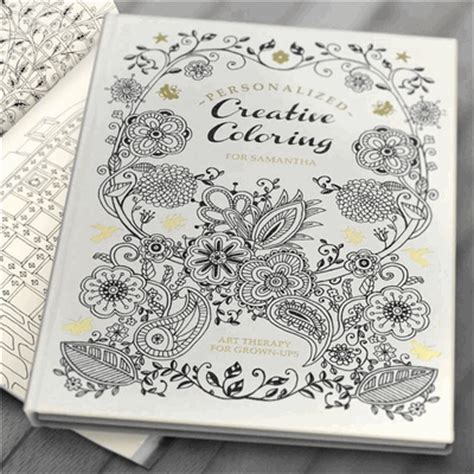 personalized coloring book for adults hardcover