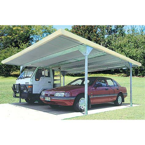Carport Skil Roof Double Absco 55x55x225m W33 Cb