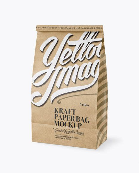 White paper shopping bag / half side view mockup in bag & sack mockups on yellow images object mockups. Free PSD Mockup Kraft Paper Bag Mockup - Half Side View ...