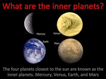 inner planets of the solar system interactive power point