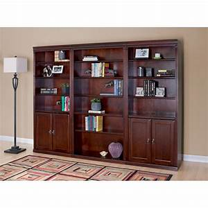 Kathy Ireland Huntington Club Wood Wall Bookcase With