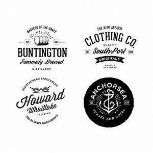 Vintage Logos With Badge Psd Material Free Download