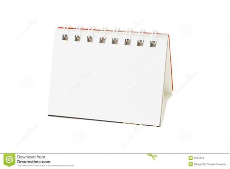 calendrier de bureau blanc image libre de droits image 5014176