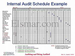 Internal audit schedule example for Internal audit scope template