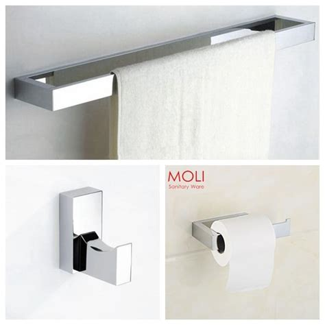 Modern Bathroom Fixture Sets by Best Bathroom Accessories Set Square Towel Bar Toilet