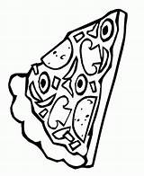 Pizza Coloring Pages Pepperoni Slice Sheets Clipart Template Pusheen Printable Popular Coloringhome Delicious sketch template