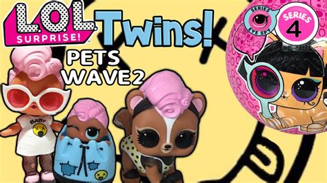 lol surprise series  wave  twins lol dolls lol pets