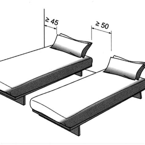 orientation du lit dans une chambre agrandir deux lits jumeaux quuon spare with