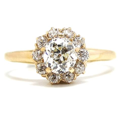 gold vintage engagement rings real
