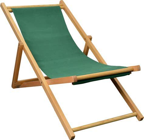 traditional folding wooden deckchair garden seaside