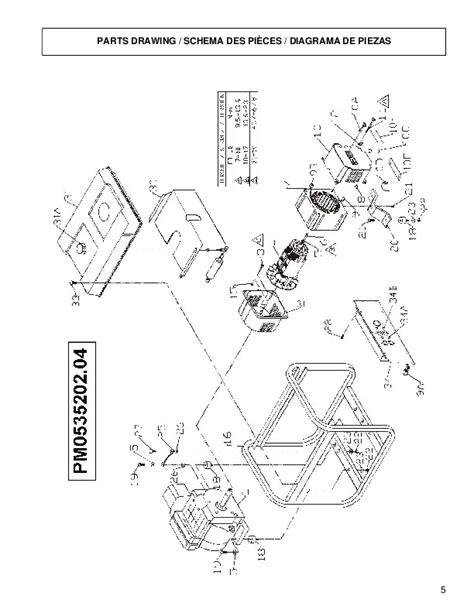 coleman powermate pro gen 5000 pm0535202 generator owners