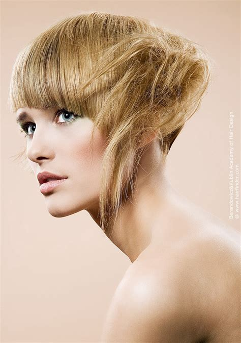 razor cut hair  asymmetrical side strands